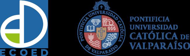 Logo EcoEd y logo Universidad Católica de Valparaíso