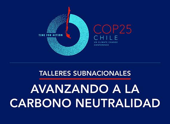 """COP25 – Talleres Subnacionales """"Avanzando a la Carbono Neutralidad"""""""